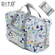 DITD 27 color Cartoon Elephant Foldable Travel Bag Large Capacity Waterproof Dog Printing Bags Portable Womens Tote camping bag