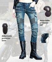 Freeshipping 2017 Fashion uglybros MOTORPOOL UBS11 jeans motorcycle protection pants women moto pants