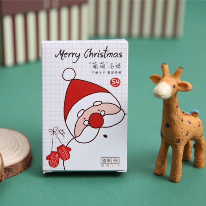 unidsset lindo de navidad pintado a mano de tarjetas de felicitacin tarjeta de
