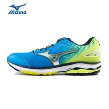 MIZUNO Men's Jogging Running Shoes Cushioning Light Weight Marathon WAVE RIDER 19 Sneakers Sports Shoes J1GC165205 XYP428