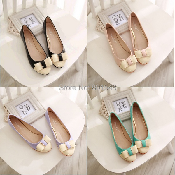 50 Off Best Selling Color Matched lady Flat Shoes Bowtie Designer Casual Lady Shoes Elegant Confort