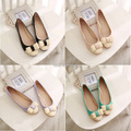 50% Off Best Selling Color-Matched lady Flat Shoes Bowtie Designer Casual Lady Shoes Elegant Confort Girl's Shoes Plus Size V039
