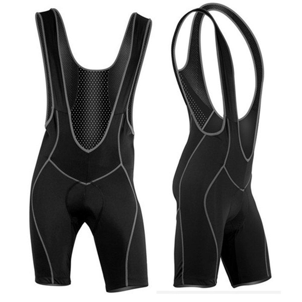 LumiParty New Men`s Cycling Bib Shorts 3D Coolmax Padded Bike Bicycle Braces Pants, Size L