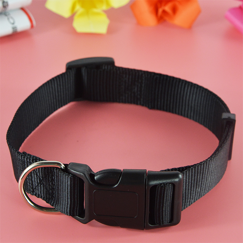 Hot Sale Nylon Solid Color Dog Collar Justerbar Pet Puppy Cat Collar - Pet produkter - Foto 3