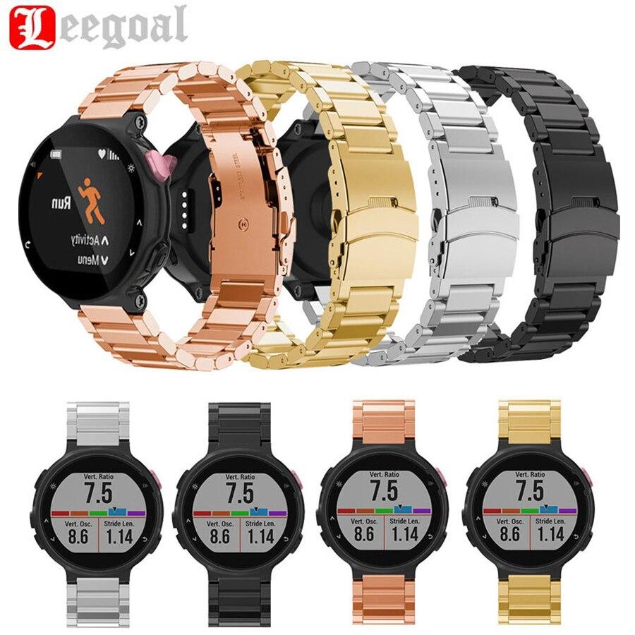imágenes para Alta calidad 316 de acero inoxidable de metal correa para garmin forerunner 630 correa de reloj de pulsera correa correa de reloj pulsera