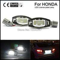 2pcs Direct Fit LED License Plate Lights Direct Fit For Acura TL TSX RDX Honda CIVIC