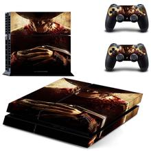 Freddy Krueger decal PS4 Skin Sticker for Sony Playstation 4 Console & 2 Controller Protective Sticker