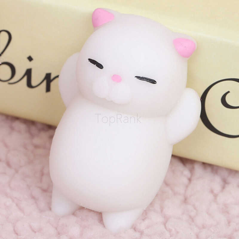 TopRank 1Pc Mini Cute Mochi Squishy Cat Squeeze Healing Kids Kawaii Stress Reliever Decor Animal Noverty Toys Anti Stress Toy