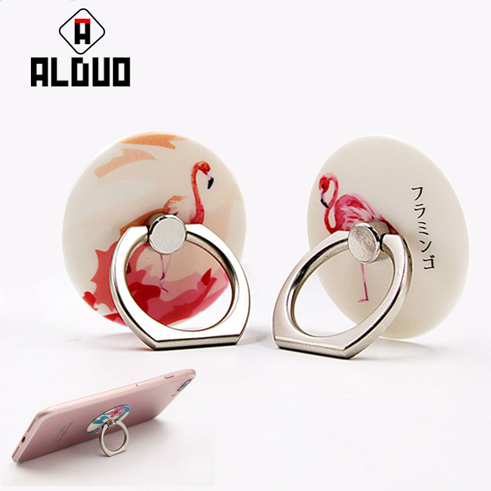 ALANGDUO Original Stand Luxury Metal Finger Ring Mobile Phone Smartphone Stand <font><b>Holder</b></font> For <font><b>iPhone</b></font> Samsung Phone Bracket