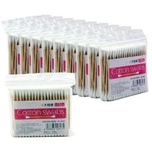 1000Pcs Cotton Swabs Swab Disposable Applicator Q-tip Wood Handle Swab Stick Makeup Tool Medical Cosmetics Ear Clean Double Head