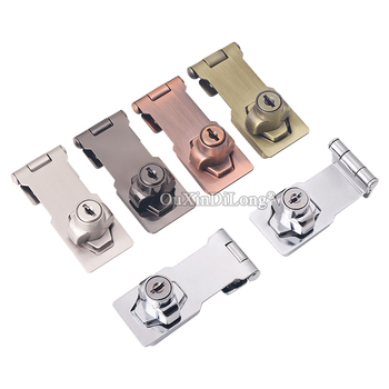 High Quality 10PCS Zinc Alloy Cabinet Locks Cupboard Drawer Box Cabinet Locks Door Closet Hasp Lock 3 Colors for choose
