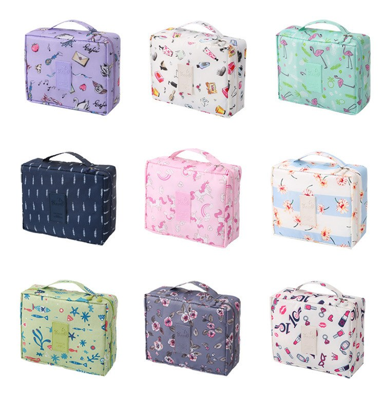 HTB1QDVkVIfpK1RjSZFOq6y6nFXaa - New Flower Makeup Bag Women Waterproof Portable Cosmetic Bag Travel Necessity Beauty Toiletry kit Organizer Bag