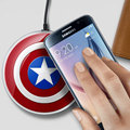 Captain America Qi Wireless Charger Pad For SAMSUNG Galaxy S6/S6 Edge/S6 edge+ Google Nexus 4/5 Lumia 920 Cargador Inalambrico