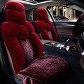 Высокое Качество искусственного меха переднего сиденья автомобиля чехлы для автомобильных сидений автомобилей обложки универсальный подходит для Большинства автомобилей чехлы Интерьер аксессуары 2016new