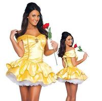 Beauty And The Beast Princess Belle Adult Women Hot Female Cosplay Costume Halloween Carnival Fancy