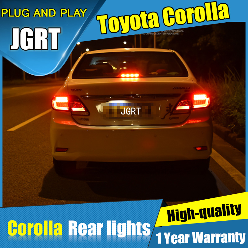 JGRT Car Styling for Toyota Corolla Tail Lights 2011-2013 for Corolla  LED Tail Lamp+Turn Signal+Brake+Reverse LED light universal pu leather car seat covers for toyota corolla camry rav4 auris prius yalis avensis suv auto accessories car sticks