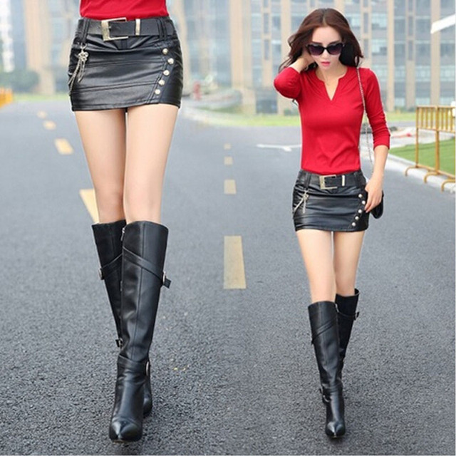 Dropshipping Micro Mini Skirt 2018 Autumn Winter Women Black Color