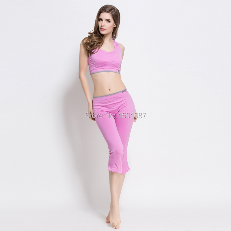 4c0a42904aee0b Best Selling Women Sexy Sports Bra Pants Gym Yoga Sport suit Set Popular  Running Tights Female Exercise Leggings Fitness S XL-in Yoga Pants from  Sports ...