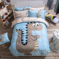 New Fashion Cartoon Dinosaur Bedding Sets 3PC 4PC Include1pcs Duvet Cover 1pcs Bed Sheet 1 2pcs