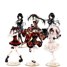 DATE A LIVE 2 Tokisaki Kurumi Anime Toy Double Sided Plastic Action Figures Toy High Quality Collection Model Toys 21cm date a live tokisaki kurumi school uniform figma 16cm japan anime pvc vocaloid figures kids hot toys for children birthday gifts