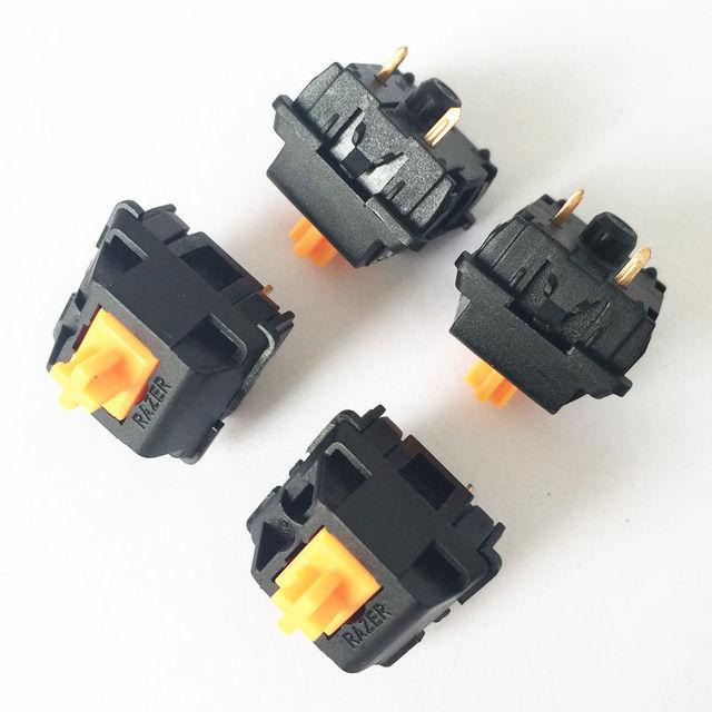 4PCS NEW Orange Keyboard Microswitch Keyswitches 2pin Feet Switch Mix Switch for Ra.zer Blackwidow Mechanical Keyboard