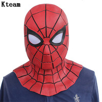 New Hot Movie Spiderman Homecoming Avengers Infinity War Iron Spider Man Cosplay Costumes Lycra Mask Superhero Lenses 3D Masks