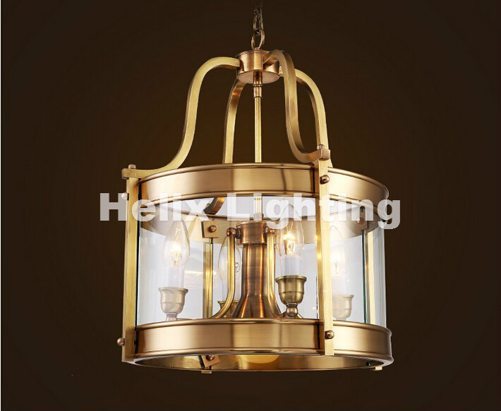D340mm H460mm High Quality American Modern Brass Chandelier Copper Chandelier Light Fixture Guaranteed 100% + Free shipping!