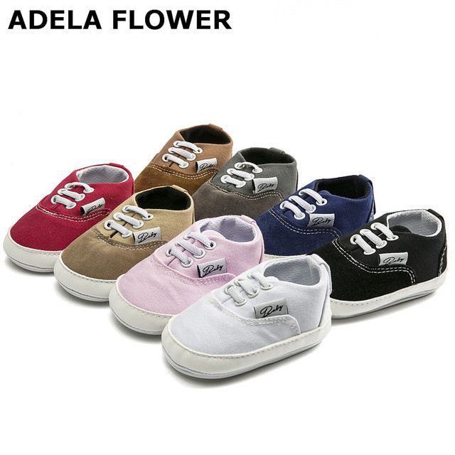 c66b8031ad3c Adela Flower New Baby Shoes Breathable Canvas Shoes 0-18 Months Old 8 Color  Comfortable Girls Boys Sneakers Shoes Kids Toddle