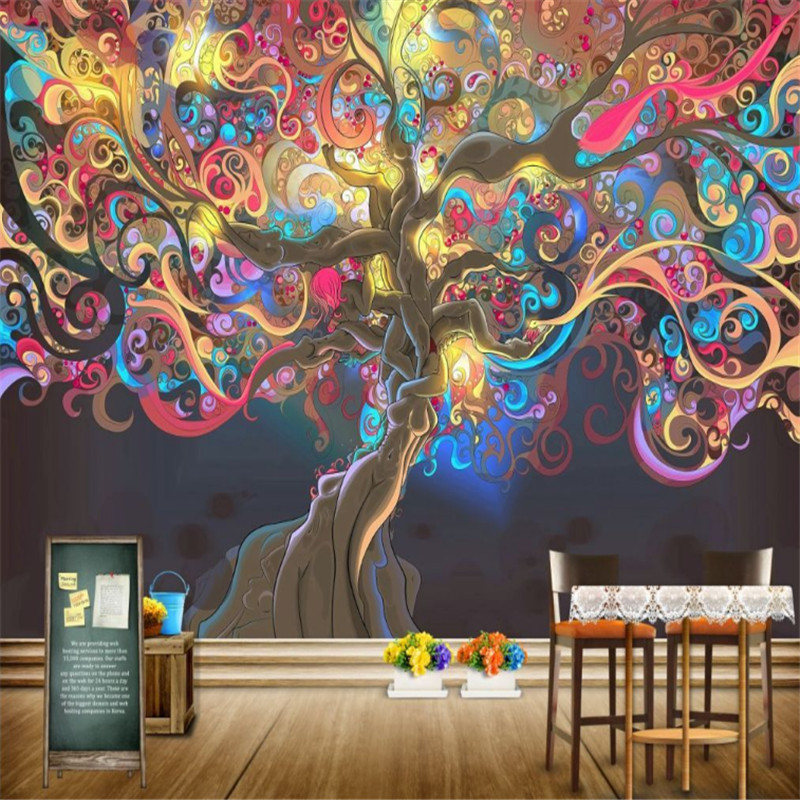 custom modern 3d photo wallpaper wall mural 3d wallpaper abstract hand-painted background wall paper home decor for kitchen retro table bread glass vegetables fruits hand painted restaurant mural kitchen living room custom wallpaper