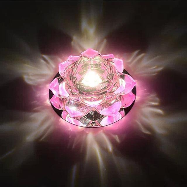 Brillante luz led de colores estrella de cristal de loto lámpara de pasillo Porche lámpara pasillo lámpara de LHC