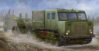 Военное Дело сборки модель Кэннон 1:35 русский AT-S пистолет и трактор Прицепы грузовик 09514