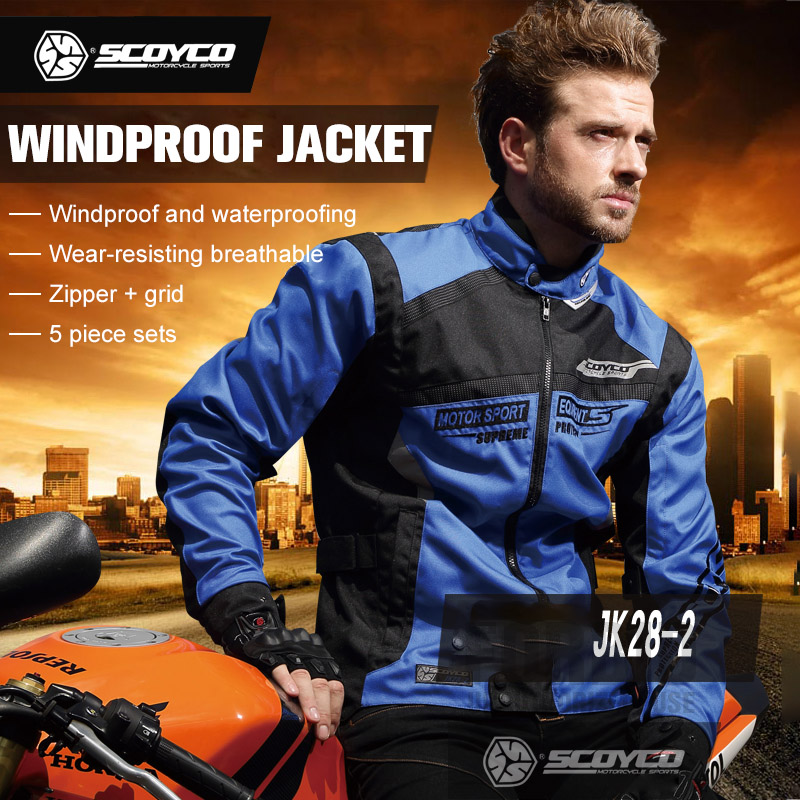 SCOYCO Motorcycle Racing Clothing Jacket Offroad Riding Moto Jaqueta Motoqueiro Chaqueta Moto Suit Protective Gear Jacket Men  benkia two piece raincoat women men suit rain coat pants motorcycle rain gear riding jackets jaqueta motoqueiro