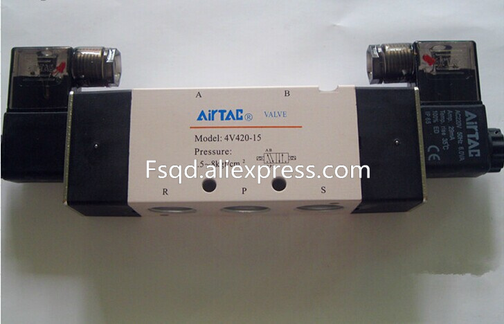 4V420-15 DC24V AIRTAC  solenoid valve electromagnetic valve Quality pneumatic components valves