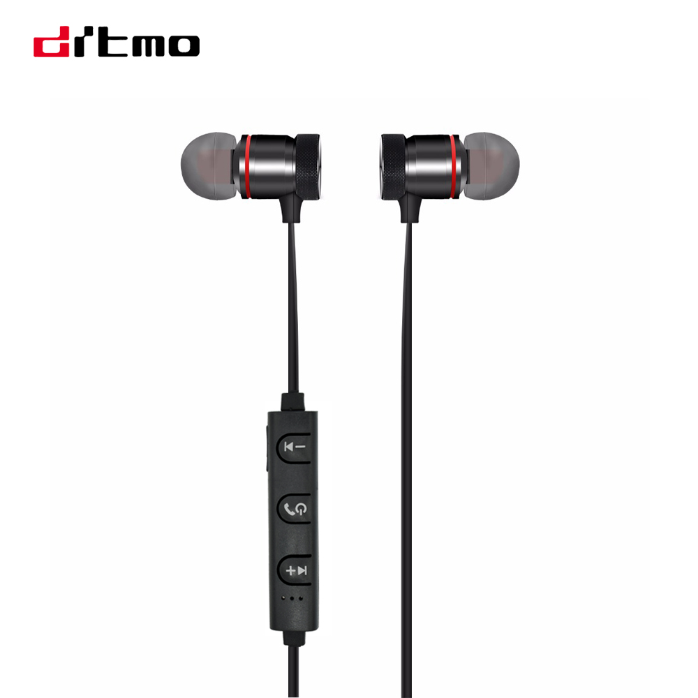 drtmo sport wireless bluetooth earphones metal magnetic running stereo super bass headsets with. Black Bedroom Furniture Sets. Home Design Ideas