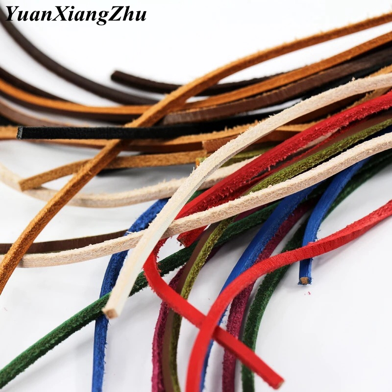 1Pair Top Layer Leather Shoelaces Colorful Solid Shoelace Leather Shoes\'shoelace Sports Shoelace Decorative Type Shoelaces P-5