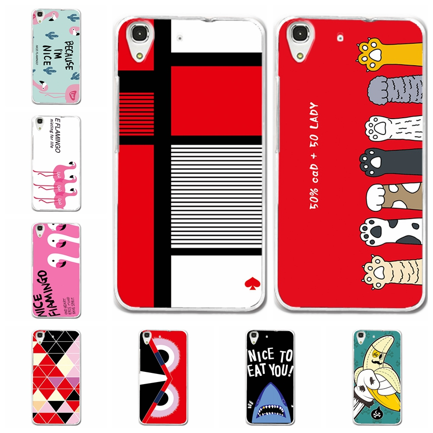 Case For Huawei Y6 II Bunny Phone Cases Cover For Huawei Y6 2 Fashion Cute Back Cover For Huawei Y62 CAM-L21 Capa Funda