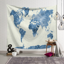 Nordic Vintage Wall Cloth Tapestries World Map Printed Macrame Tapestry Polyster Beach Towel Thin Blanket Yoga Shawl Mat