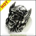Fashion Men's Stainless Steel Vintage Viking warrior Ring Gothic Jewelry Free Shipping Punk