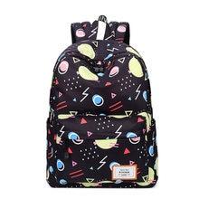 Черные модные женские туфли рюкзак для отдыха корейские женские рюкзак геометрический Шаблоны школьников школьный Девушка ноутбука Дорожные сумки