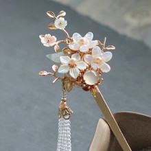 New Design Hair Stick Antique Accessories Decorate Hairpin Tassels Wedding Jewelry Gold-plated Colourful Hairpins