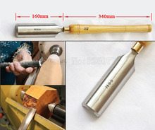 1PCS Super Size Woodturning Woodworking Roughing Gouge Wood Lathe Turning HSS A2005(42 x 160mm) with 340mm long handle JF1622
