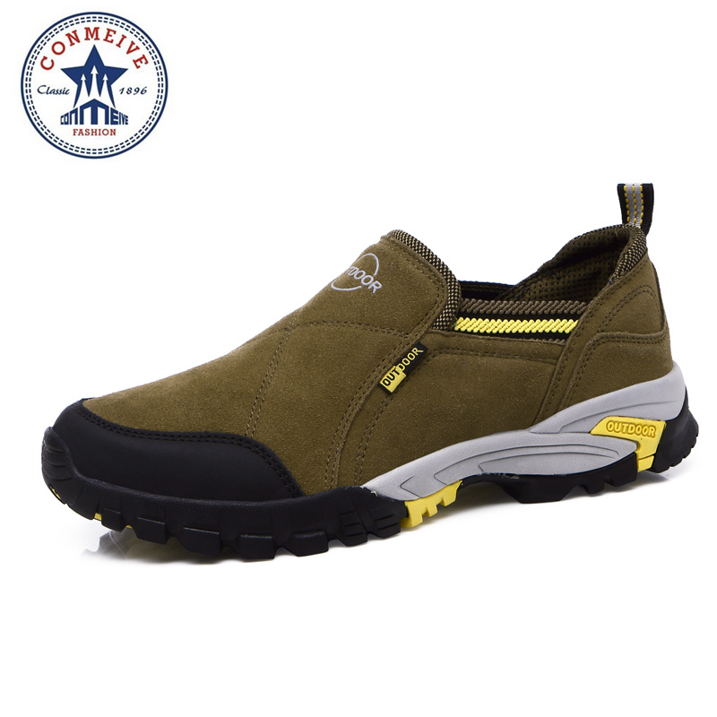 sale outdoor trekking hiking shoes sapatilhas climbing camping senderismo fishing sports Genuine Leather winter Rubber Men winter men s outdoor cotton warm sports hiking shoes sneakes men anti slip climbing athletic shoes camping chaussures trekking