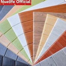 70cmx70cm Imitation wood pattern foam 3d wall sticker living room bedroom waterproof shop mildew ceiling self-adhesive wallpaper