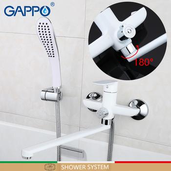 GAPPO prysznic kran łazienka kran mikser obrotowy prysznic mixer tap prysznic opady deszczu miksery do montażu na ścianie prysznic kran zestaw tanie i dobre opinie CN (pochodzenie) NONE Kształt rurki Polerowane Mosiądz G2248 Wall Mount faucet