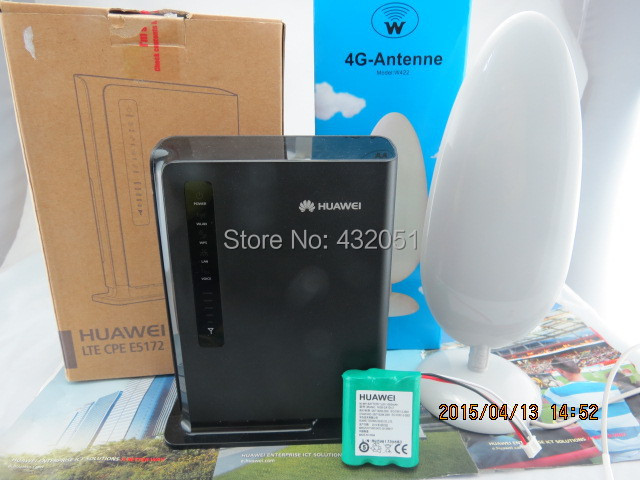 Huawei E5172s-22 4G LTE 150Mbps Cat4 FDD TDD CPE Mobile Wireless Gateway+1000mAh Battery+4G SMA 22dbi antenna huawei b890 b890 75 4g lte fdd smart hub wireless gateway 4g sma antenna with magnetic base