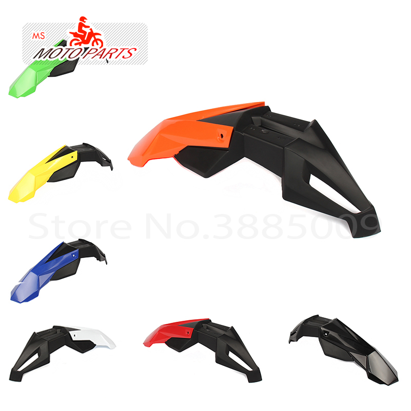 Universal Motorcycle Front Fender Cross Motos Dirt Bike Fenders Fit Fit For DRZ KX YZ WR XR EXC CRF RMZ KLX Free Shipping
