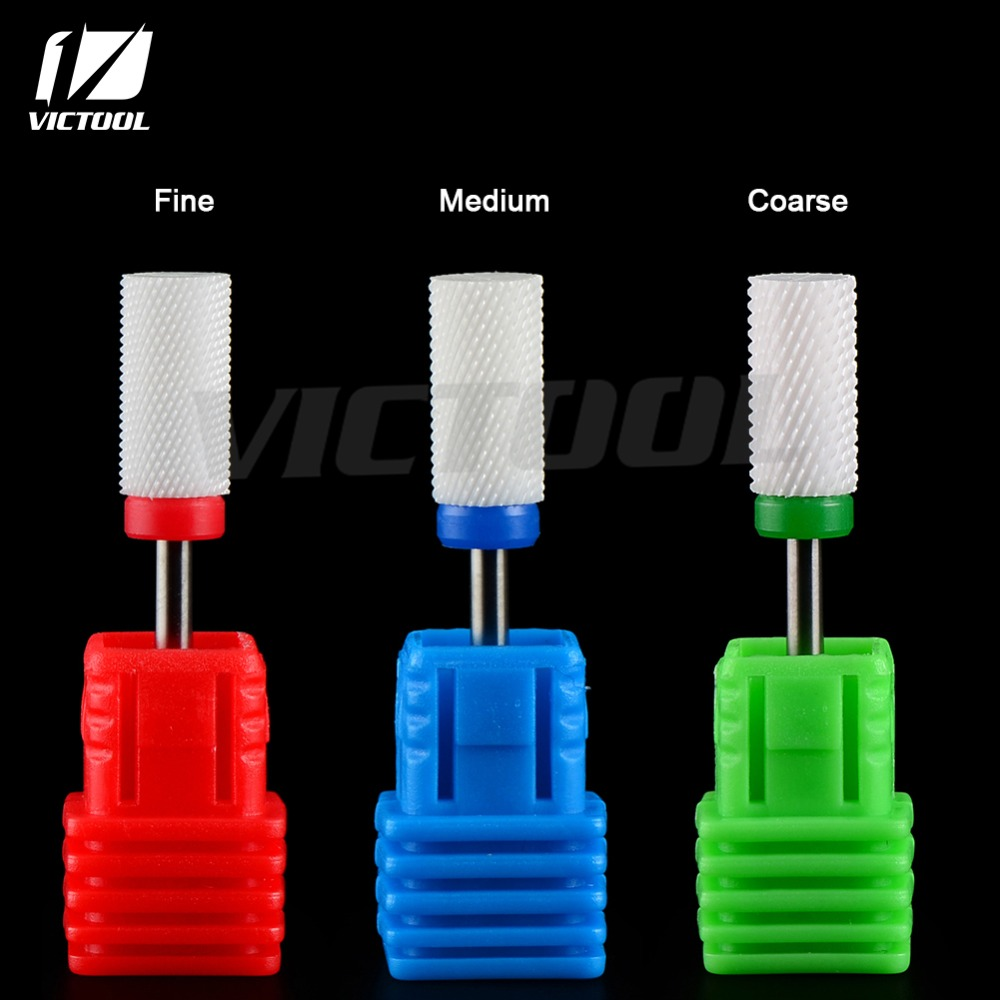 3Pcs/set  High Quality Ceramic Nail Bits For Electric Manicure Pedicure Drill Machine Professional Nail Art Tools