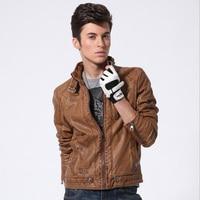 High Grade PU Men S Fashion Leather Jacket Male Slim Leather Motocycle Cool Design PU Coat