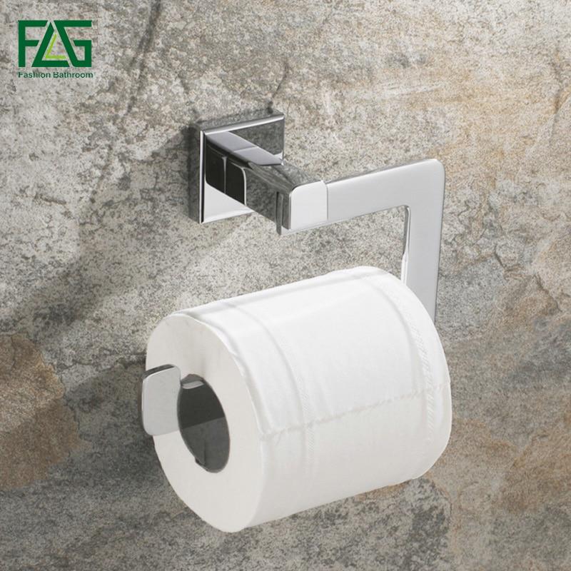 Flg Chrome Toilet Paper Holder Wall Mounted Toilet Roll Holder True Brass Construction Bathroom Accessories G133 04c Chrome Toilet Paper Holder Toilet Paper Holdertoilet Roll Holder Aliexpress