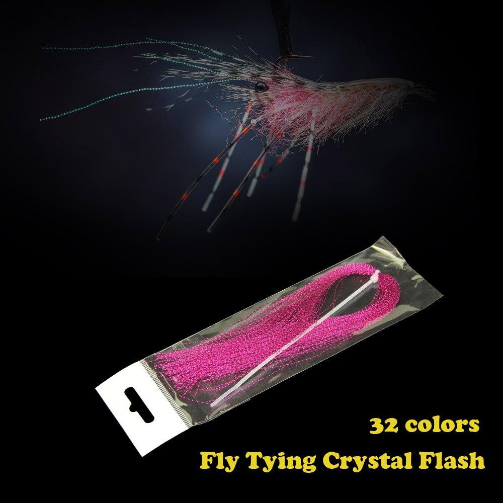 32 sacs Mouches Matériel Cristal Flash Holographique De Pêche Lure Attachant Faire 32 Couleurs 150 pcs/sac Livraison gratuite